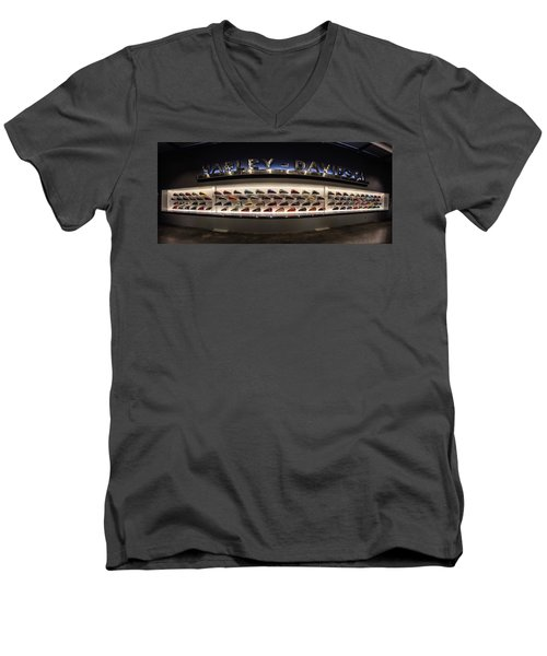Men's V-Neck T-Shirt featuring the photograph Tank Wall by Randy Scherkenbach