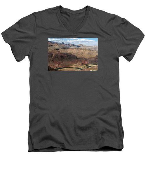 Tanner Rapids And The Colorado River Grand Canyon National Park Men's V-Neck T-Shirt