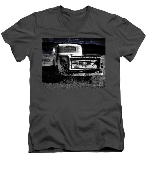 Taos Dodge B-w Men's V-Neck T-Shirt