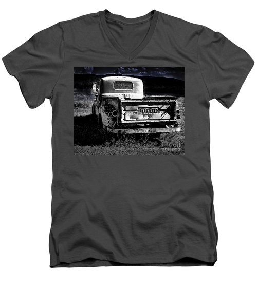 Taos Dodge B-w Men's V-Neck T-Shirt