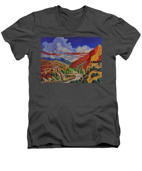 Taos Gorge Journey Men's V-Neck T-Shirt