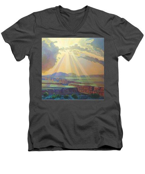 Taos Gorge God Rays Men's V-Neck T-Shirt