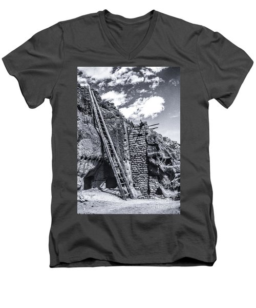 Taos Pueblo Men's V-Neck T-Shirt