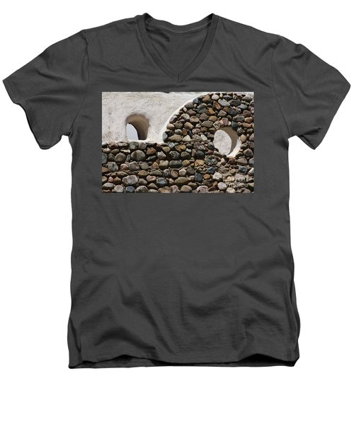 Men's V-Neck T-Shirt featuring the photograph Taos Texture by Brian Boyle
