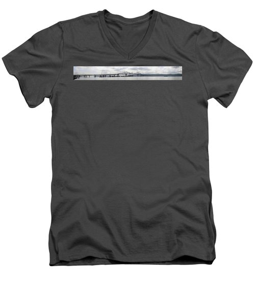Tappan Zee Bridge From Tarrytown Men's V-Neck T-Shirt
