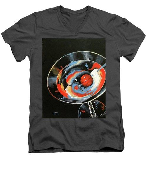 Tar Heel Martini IIi   Men's V-Neck T-Shirt
