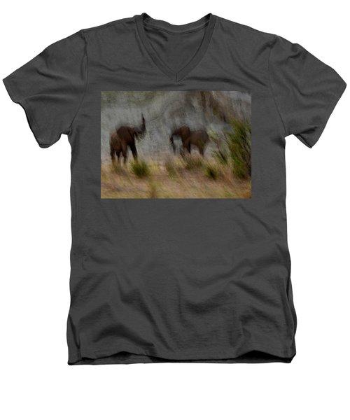 Tarangire Elephants 1 Men's V-Neck T-Shirt