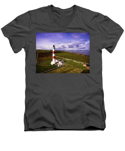 Tarbat Ness Lighthouse Men's V-Neck T-Shirt