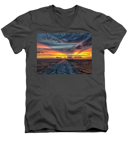 Tasman Sea Sunset Men's V-Neck T-Shirt