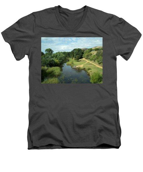 Tasmanian Landscape Men's V-Neck T-Shirt
