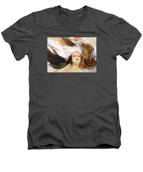 Tatiana Men's V-Neck T-Shirt by Ed  Heaton
