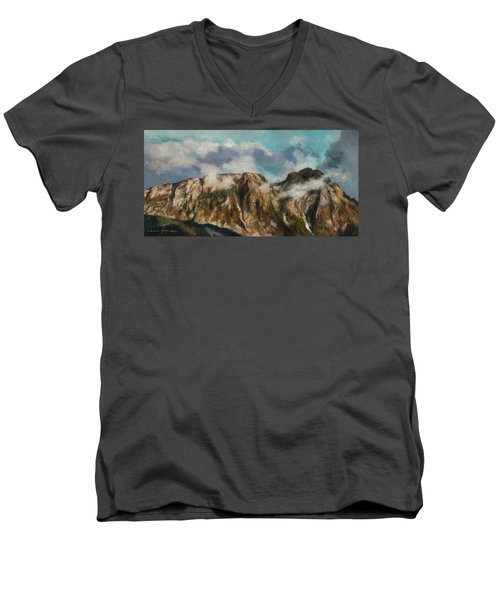 Tatry Mountains- Giewont Men's V-Neck T-Shirt