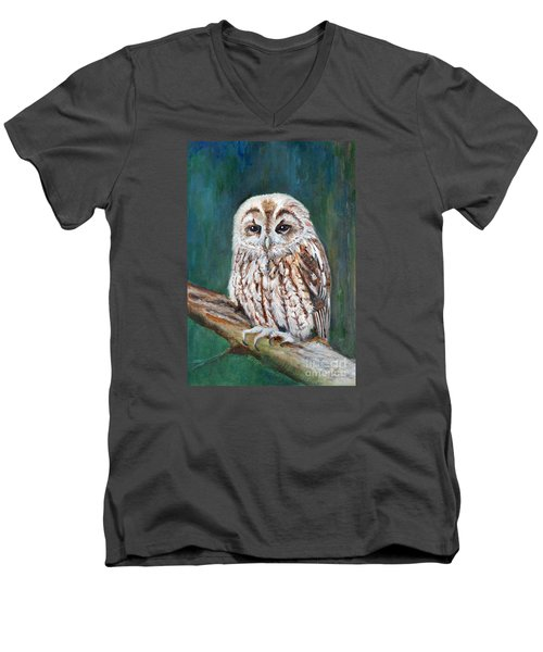Tawny Owl Men's V-Neck T-Shirt