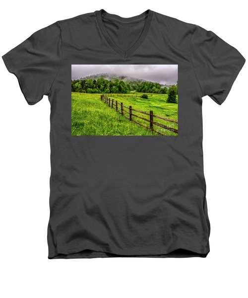 Tea Creek Meadow And Buttercups Men's V-Neck T-Shirt