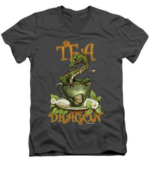 Tea Dragon Men's V-Neck T-Shirt