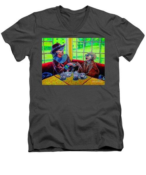 Tea Party Men's V-Neck T-Shirt by Viktor Lazarev