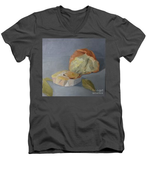 Tea Time Men's V-Neck T-Shirt by Genevieve Brown