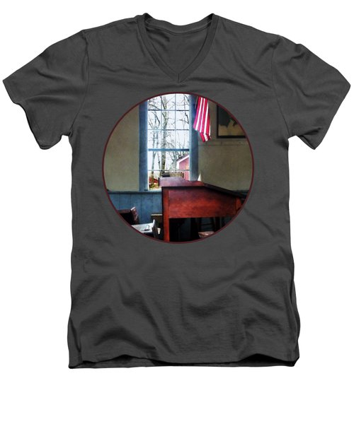 Teacher - Schoolmaster's Desk Men's V-Neck T-Shirt