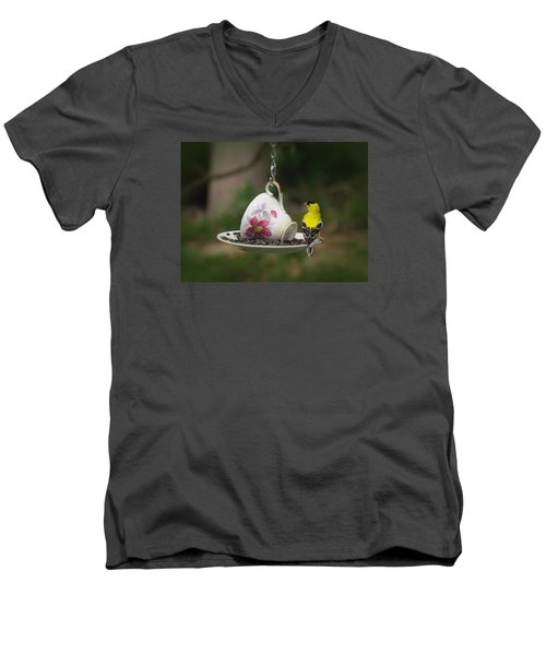 Teacup Finch Men's V-Neck T-Shirt