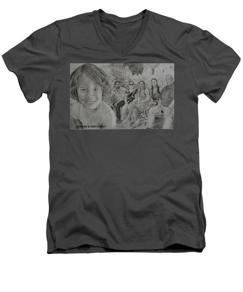 Teagan And Her Family Men's V-Neck T-Shirt