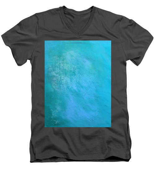 Teal Men's V-Neck T-Shirt by Antonio Romero