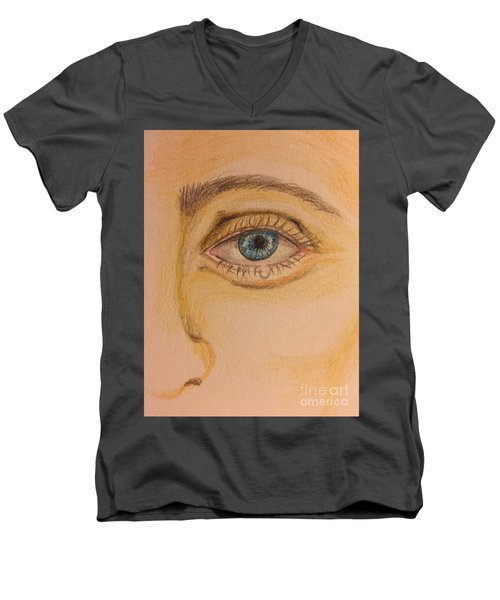 Tear Drop Men's V-Neck T-Shirt