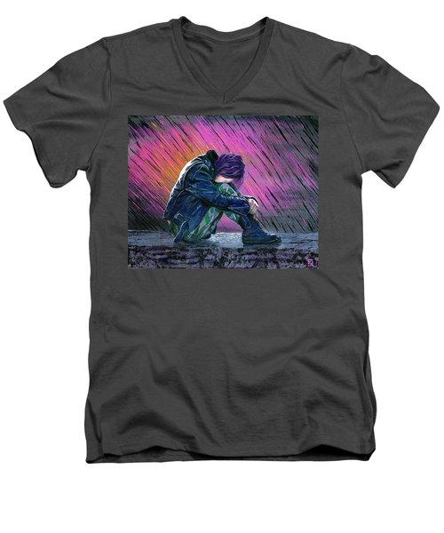 Tears In The Rain Men's V-Neck T-Shirt