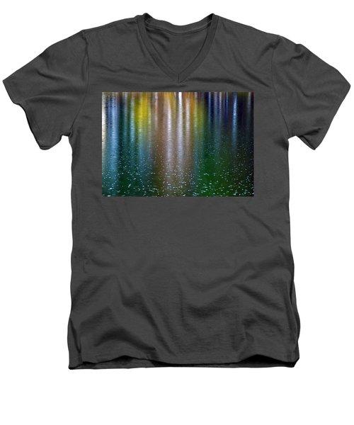 Men's V-Neck T-Shirt featuring the photograph Tears On A Rainbow by John Haldane