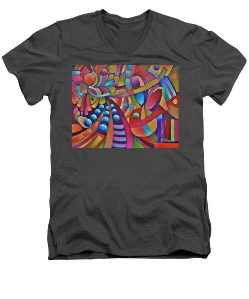 Technicolor Bloom Men's V-Neck T-Shirt