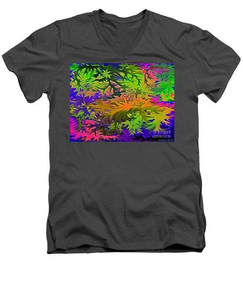 Technicolor Leaves Men's V-Neck T-Shirt