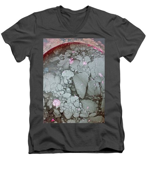 Tectonic With Sky Above And Below Men's V-Neck T-Shirt