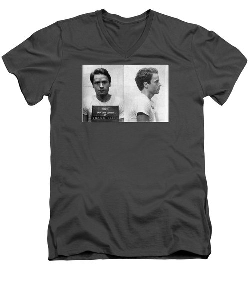 Ted Bundy Mug Shot 1975 Horizontal  Men's V-Neck T-Shirt