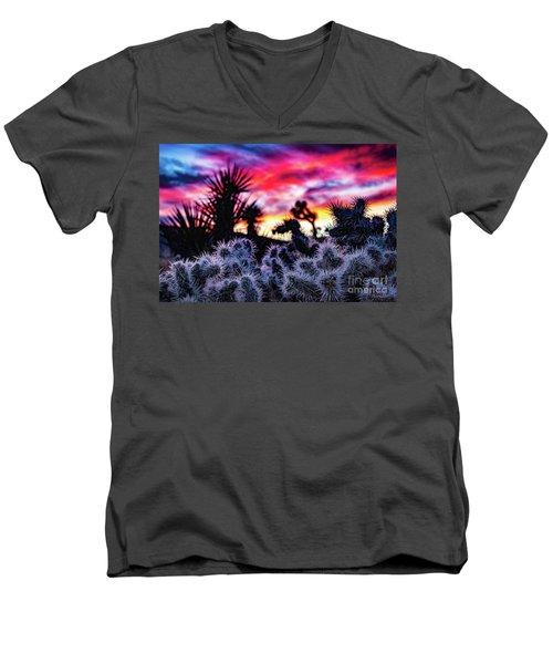 Teddy Bear Cholla Men's V-Neck T-Shirt