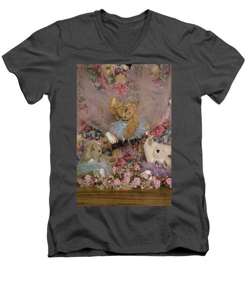 Teddy Bear Dancers Men's V-Neck T-Shirt