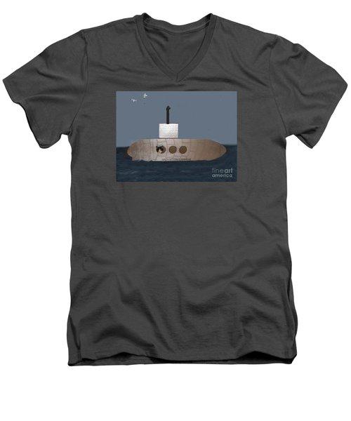 Teddy In Submarine Men's V-Neck T-Shirt