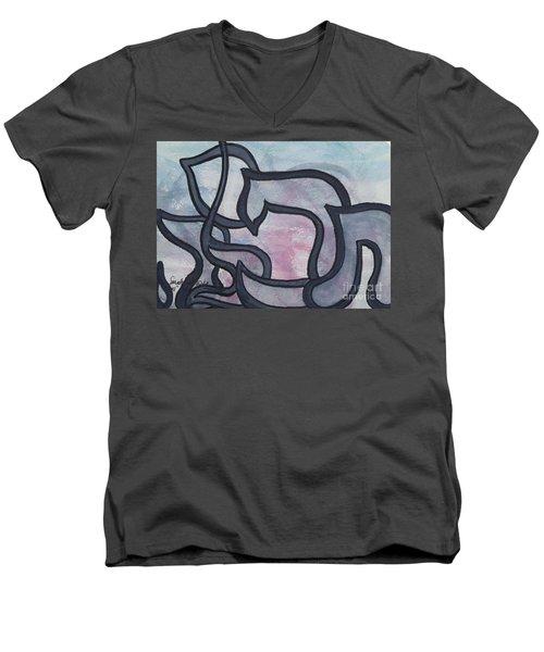 Tefilah   Prayer  Men's V-Neck T-Shirt