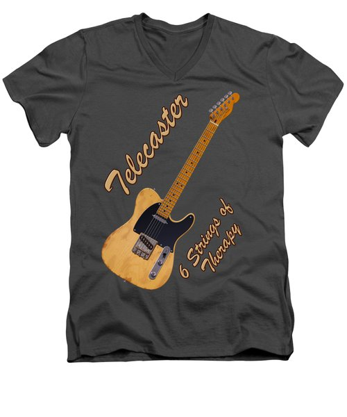 Telecaster Therapy T-shirt Men's V-Neck T-Shirt by WB Johnston