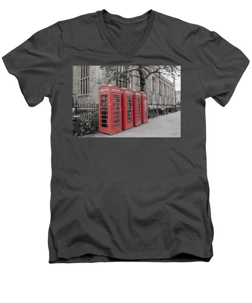 Telephone Boxes Men's V-Neck T-Shirt