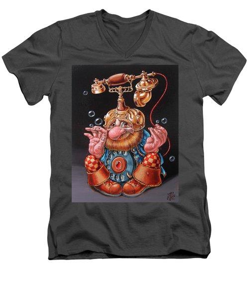Telephonic Men's V-Neck T-Shirt