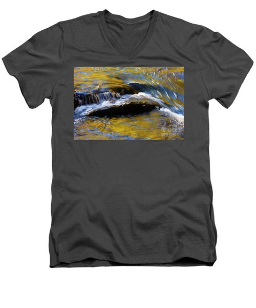 Men's V-Neck T-Shirt featuring the photograph Tellico River - D010004 by Daniel Dempster