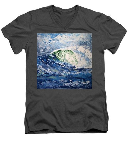 Tempest Abstract Men's V-Neck T-Shirt