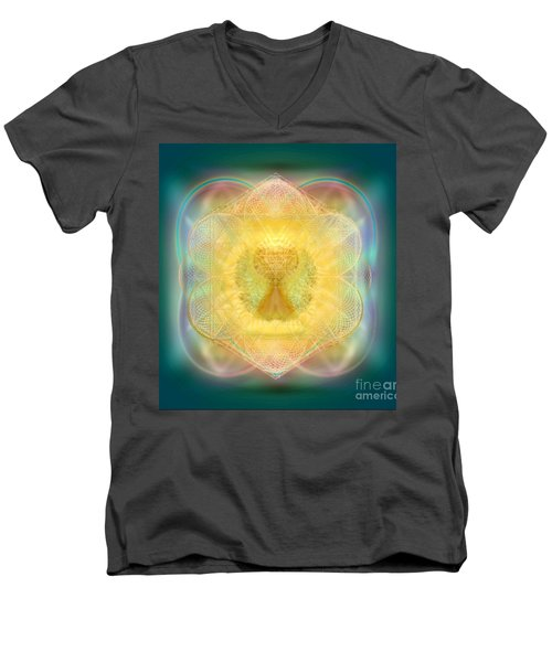 Temple Fire Chalice Men's V-Neck T-Shirt