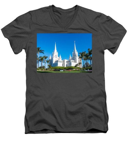 Temple Glow Men's V-Neck T-Shirt by Patti Deters