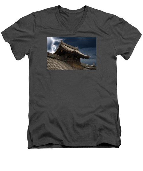 Temple In The Sky Men's V-Neck T-Shirt