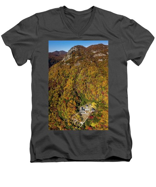 Temple In The Valley 2 Men's V-Neck T-Shirt