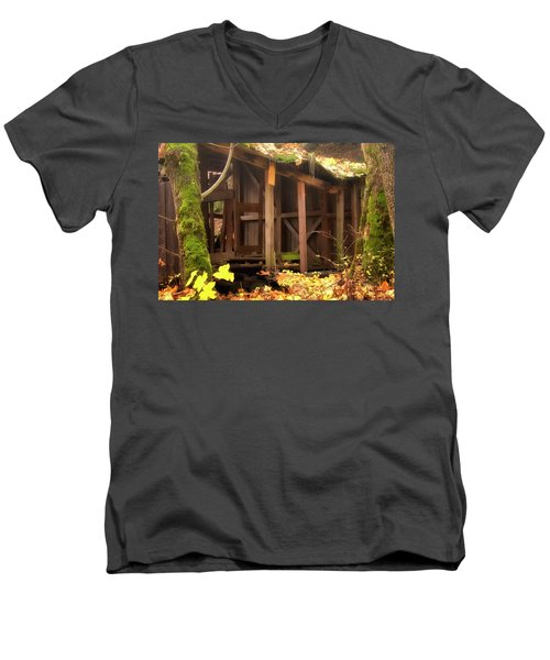 Men's V-Neck T-Shirt featuring the photograph Temporary Shelter by Albert Seger