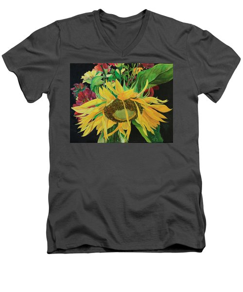 Men's V-Neck T-Shirt featuring the painting Tender Mercies by Jane Autry