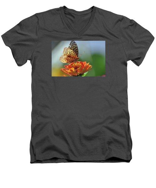 Men's V-Neck T-Shirt featuring the photograph Tenderness by Glenn Gordon