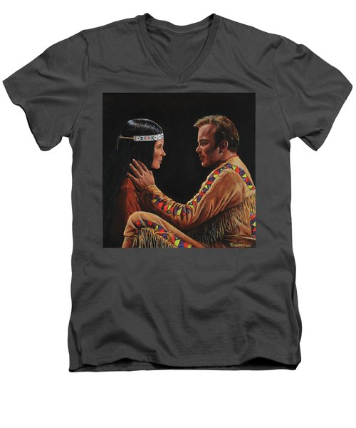 Tenderness In His Touch Men's V-Neck T-Shirt