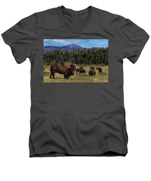 Tending The Herd Men's V-Neck T-Shirt